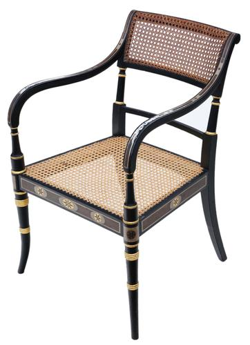 19th Century Regency Decorated Elbow Hall / Side Chair (1 of 9)