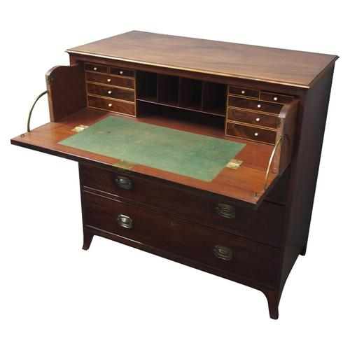 Inlaid Mahogany Secretaire Chest of Drawers (1 of 13)