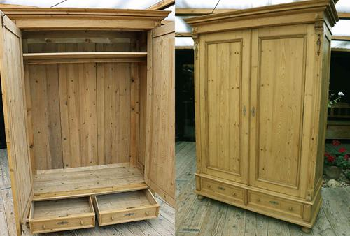 Fabulous & Exceptional Quality! Big Old Pine Double 'Knock Down' Wardrobe (1 of 17)