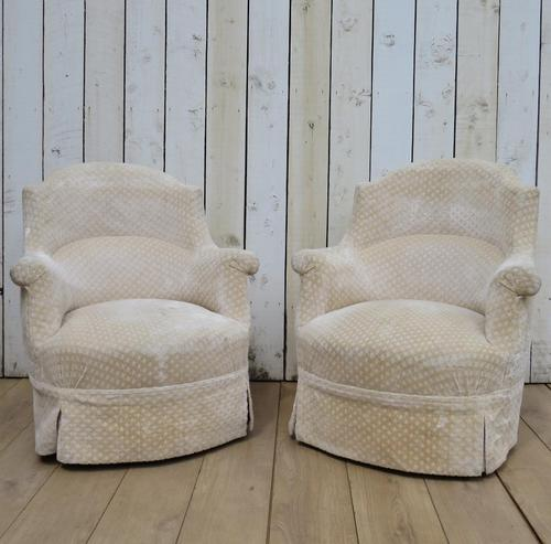 Pair of Antique French Tub Armchairs (1 of 9)