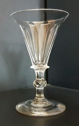 Superb Quality William IV Wine Glass c.1830 (1 of 4)