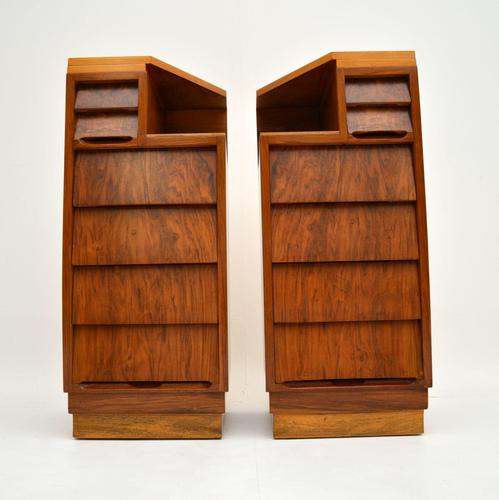 Pair of Vintage 1950's Walnut Bedside Chests (1 of 12)