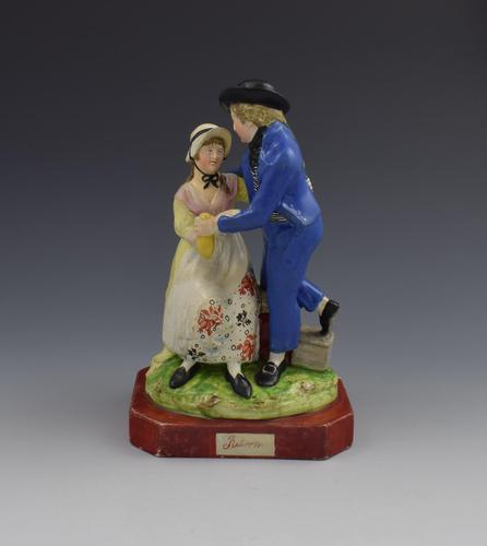 Early 19th Century Pearlware Marine Figure Group Sailor's Return (1 of 12)