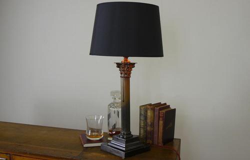 Good Large Vintage Corinthian Column Table Lamp c1930 (1 of 12)