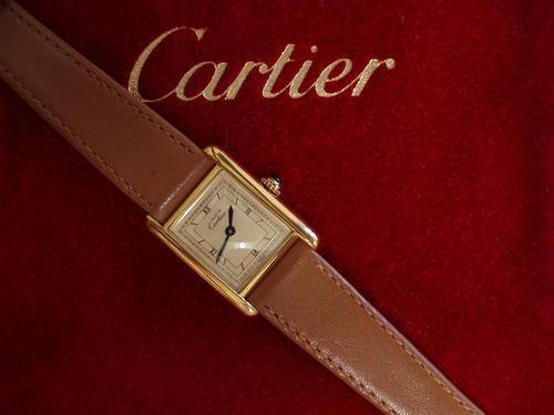 Cartier Ladies Tank Wristwatch (1 of 3)