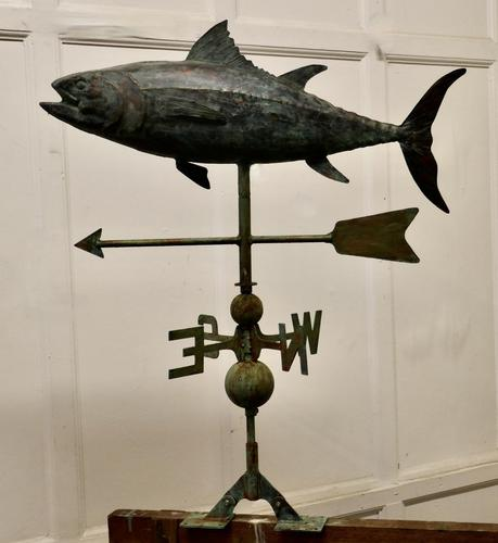 Verdigris Copper Folk Art Fish Weather Vane (1 of 7)