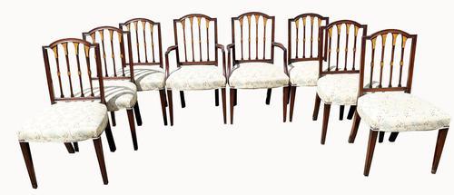 Set of Eight Fabulous Quality Edwardian Mahogany Dining Chairs (1 of 6)