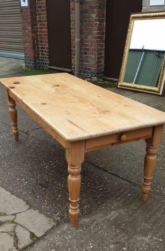Large Pine Refrectory Kitchen Table (1 of 6)