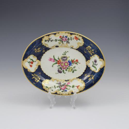 First Period Worcester Porcelain Scale Blue Oval Dish c.1770 (1 of 8)