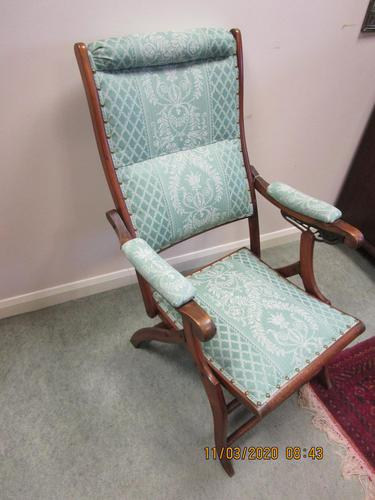 19th Century Mahogany Folding Campaign Chair (1 of 5)