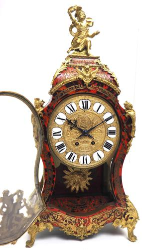 Wow! Phenomenal French Boulle Mantel Clock Rare 8-day Striking Bracket Clock Superb Condition (1 of 22)