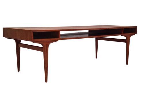Danish Sofa Table, Teak Wood, Original Very Good Condition 1960s (1 of 16)