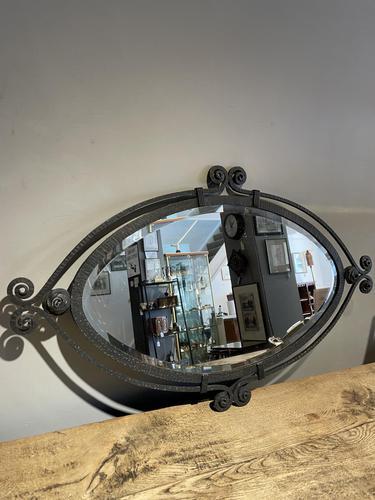 Art Deco Wrought Iron Mirror (1 of 5)