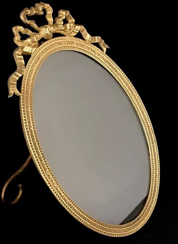 Victorian Gilt Brass Oval Easel Photo Frame (1 of 5)