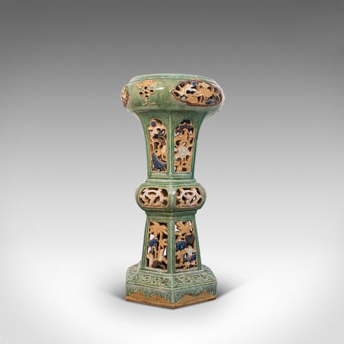 Antique Plant Stand, English, Ceramic, Decorative, Hall, Jardiniere, Victorian (1 of 12)