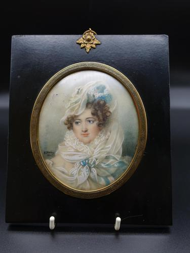 Early 19th Century Portrait of Mademe De Rohais (1 of 3)