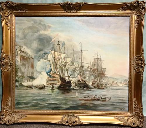 Battle of Trafalgar Marine Seascape Oil Painting (1 of 4)