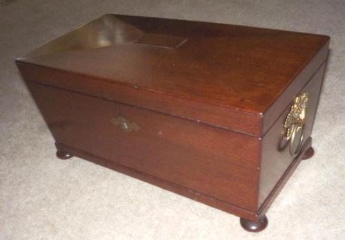 Georgian Mahogany Tea Caddy Circa 1820 (1 of 2)