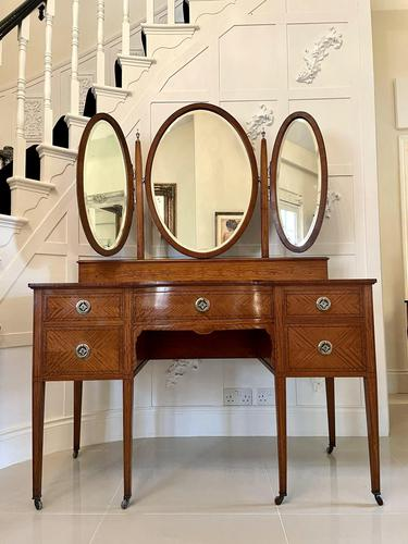 Fine Antique Inlaid Satinwood Dressing Table (1 of 9)