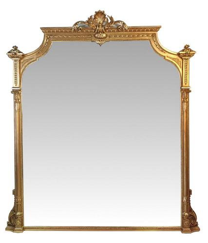 Very Large 19th Century Gilt Overmantle Mirror (1 of 3)