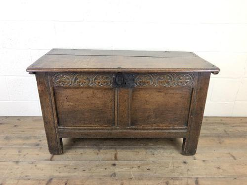 Antique 18th Century Joined Oak Coffer (1 of 15)