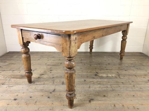 Victorian Antique Pine Farmhouse Kitchen Table (1 of 15)