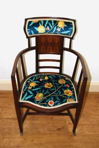 Arts & Crafts Inlaid Armchair by J S Henry 'London' (1 of 9)