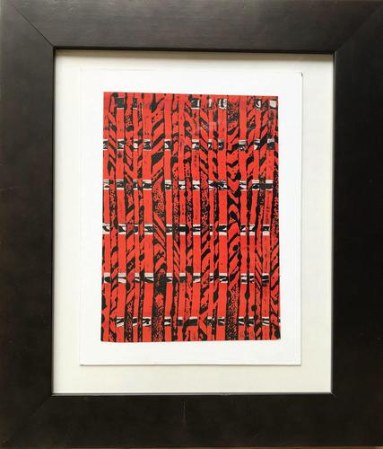 Original mixed media painting 'Bamboo' by William (Bill) Belcher. B.1923. Initialled c.1970 (1 of 2)