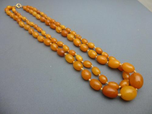 Double Strand Amber Bead Necklace (1 of 5)