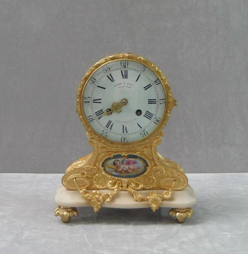 French Louis XV Style Bronze Gilt Mantel Clock by Leroy & Fils (1 of 8)
