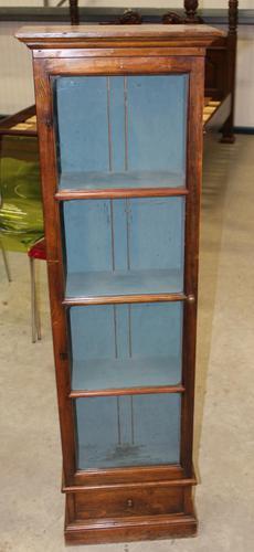1900s Mahogany One Door Collectors Cabinet (1 of 5)