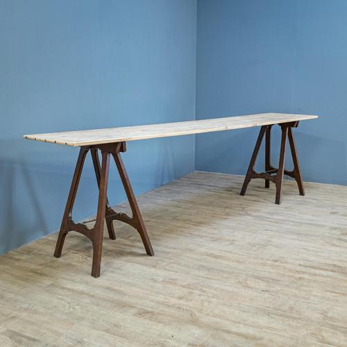 Pine & Oak Trestle Table (1 of 10)