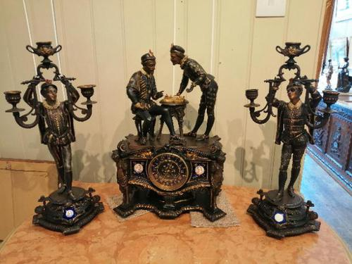 Superb Quality & Unusual French Clock Garniture (1 of 19)