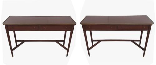Stunning Pair of Twentieth Century Mahogany Console Tables (1 of 7)