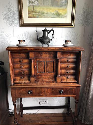 Victorian Mahogany Tabernacle Cabinet (1 of 6)
