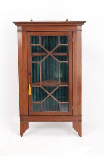 Small Edwardian Mahogany Hanging Cabinet (1 of 13)