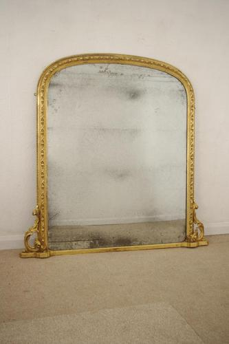 19th Century  English Gilt Arch Top Overmantle Mirror (1 of 10)