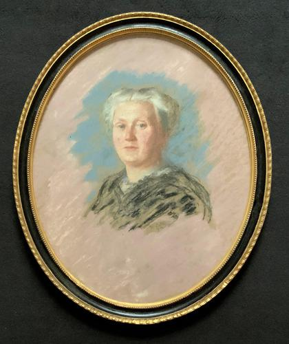Fine Quality Early 20th Century Oval Pastel Portrait Painting Inc London Gallery Label (1 of 12)