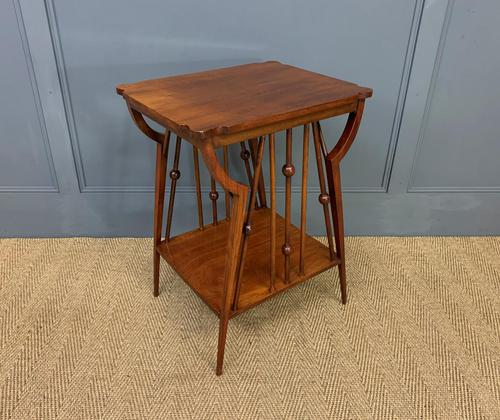 Arts & Crafts Walnut Occasional Table (1 of 6)
