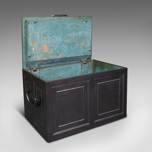 Antique Strongbox, English, Cast Iron, Safe, Deposit Case, Victorian c.1850 (1 of 12)