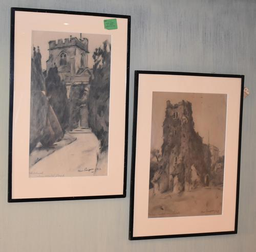 Superb Pair of Drawings by Charles Walter Simpson (1 of 8)