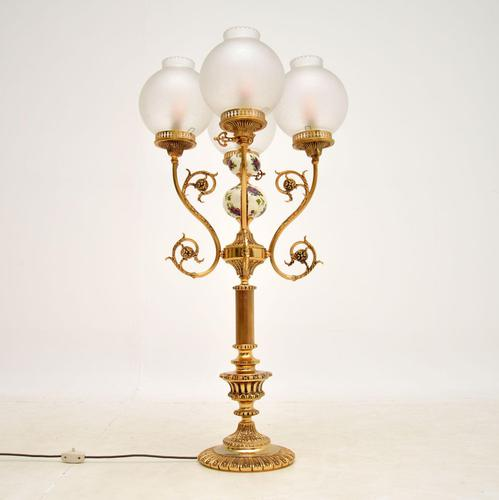 French Style Brass & Glass Table Lamp (1 of 10)
