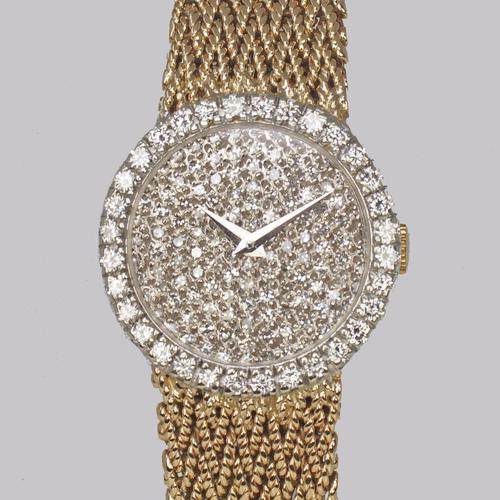 Bueche Girod for Roy King Diamond Bracelet Watch Ladies Vintage 9ct Gold 1.5 carat Diamond Watch Hallmarked 1979 (1 of 19)