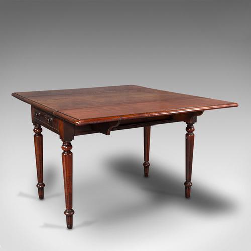 Antique Pembroke Table, English, Mahogany, Extending, Dining, Regency c.1820 (1 of 12)