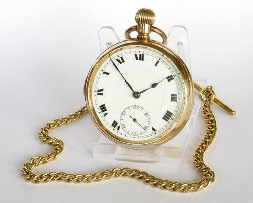 1920s Swiss Pocket Watch & Chain (1 of 5)