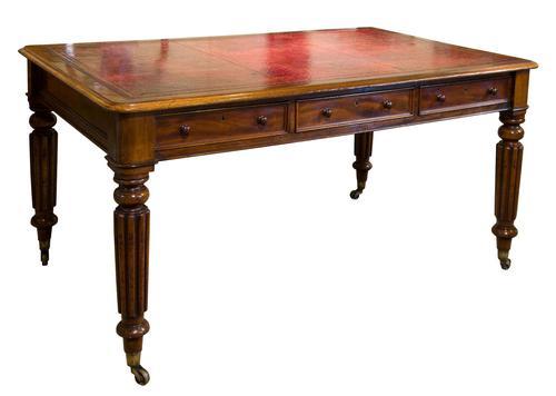 Mahogany Partners Writing Table c1850 (1 of 6)