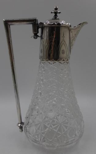 Antique Victorian Silver Claret Jug - Birmingham 1881 (1 of 10)