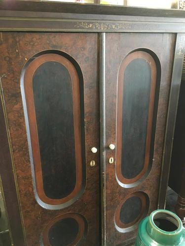 Antique Pine Cupboard Armoire Original Hand Painted (1 of 6)