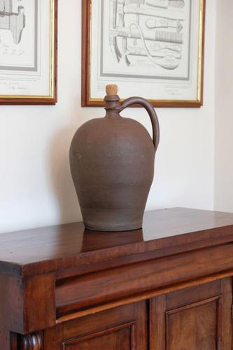 Ovoid form continental earthenware oil jars 355mm high (1 of 2)