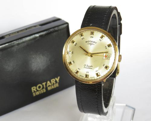 Gents 9ct Gold Rotary Watch, 1969 (1 of 5)